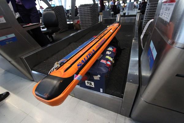 飛行機の受託手荷物